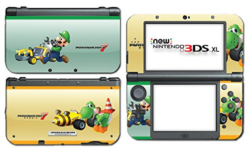 Mario Kart 7 8 3D Luigi Yoshi Arcade GP Video Game Vinyl Decal Skin Sticker Cover for the New Nintendo 3DS XL LL 2015 System Console