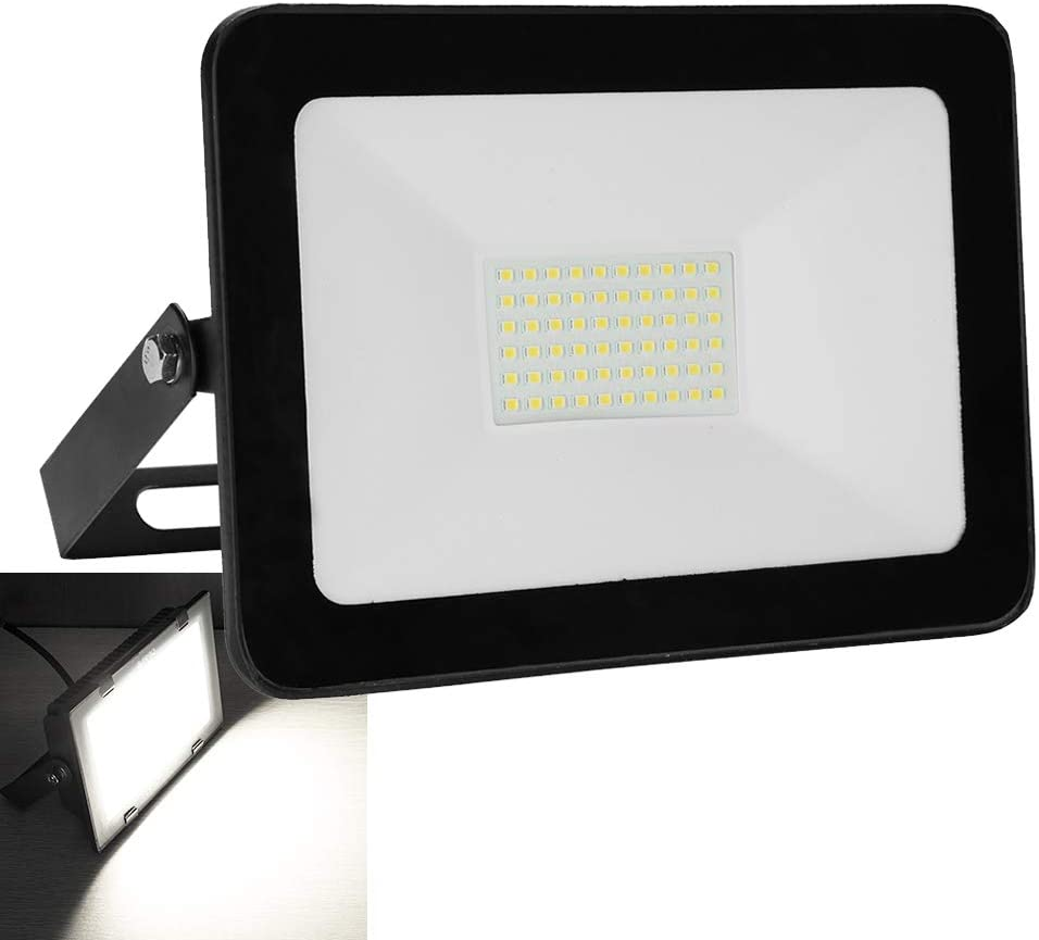 Aluminium Au/ßenstrahler Garten Stimmungslichter IP65 Wasserdicht LED Flutlicht 230V 10W LED Strahler Kaltwei/ß LED Fluter Flutlichtstrahler