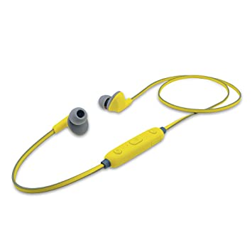 iBall EarWear Sporty Wireless Bluetooth Headset with Mic for All Smartphones  Fluorescent Yellow