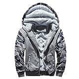 Product review for Teresamoon Big Promotion ! Mens Sport Printed Hooded Sweatshirt Coat Tops Pants (Gray, XXL)