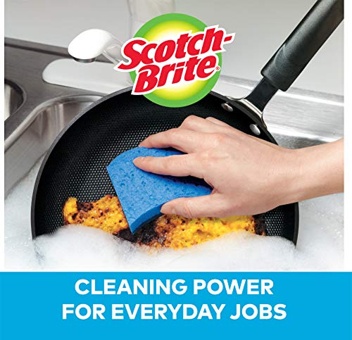 Scotch-Brite Non-Scratch Scrub Sponge, Cleaning Power for Everyday Jobs, 6 Scrub Sponges