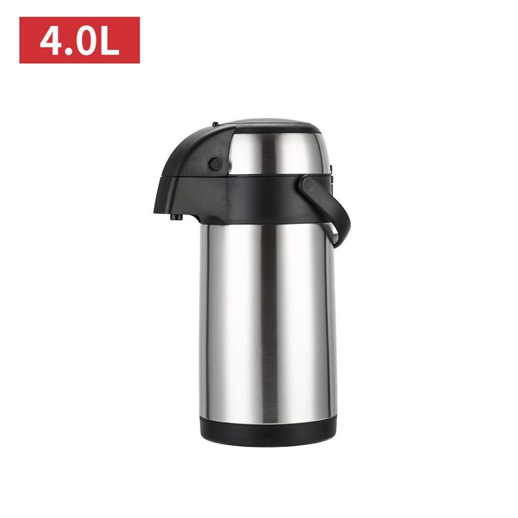 WLHW Trinkflaschen Airpot, Pump Action Thermal Flask mit Pumpmechanismus aus Edelstahl für heiße kalte Flüssigkeiten 2.5/3/4 / 5L