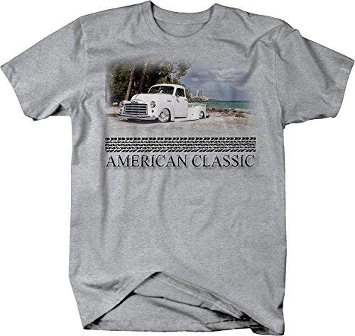 - American Classic - GMC 1950's Pickup Truck Custom Hotrod Beach Tshirt - XLarge