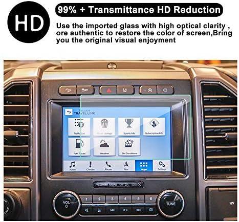 LUVCARPB カーナビゲーションスクリーンプロテクター、フォードF150 F250に適合、8インチ9H強化ガラスディスプレイ透明保護