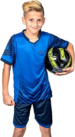 PAIRFORMANCE Boys' Soccer Jerseys Sports Team Training Uniform Age 4-12 Boys-Girls Youth Shirts and Shorts Set Indoor Soccer.