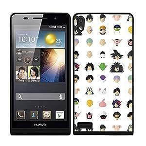 Funda carcasa TPU (Gel) para Huawei P6 diseño bola de dragón estampado borde negro