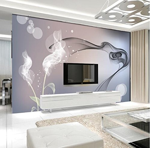 Yosot Black White Smoke Abstract Photo Mural Wallpapers Murals Flor Living Room Tv Background Custom Any Size Embossed Wallcoverings-450Cmx300Cm