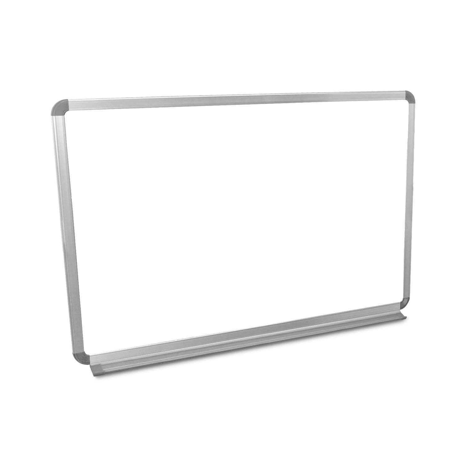 Luxor Home Office School Wall-Mounted Magnetic Dry Erase Whiteboard with Aluminum Frame - 36''W x 24''H by Luxor/H.Wilson