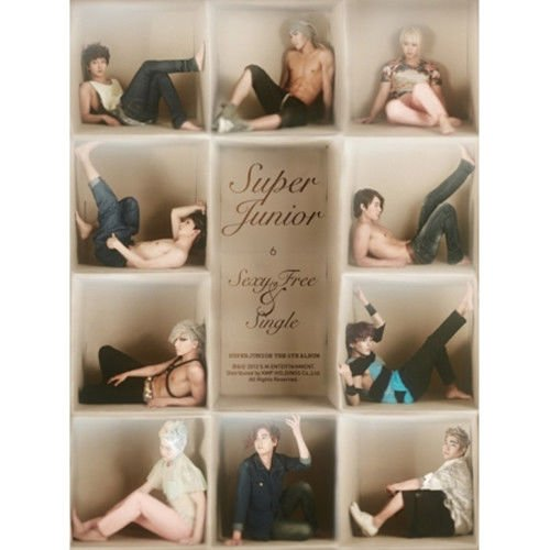 (SUPER JUNIOR [SEXY, FREE & SINGLE] 6th Album B Ver CD+Booklet+Tracking Number K-POP SEALED)