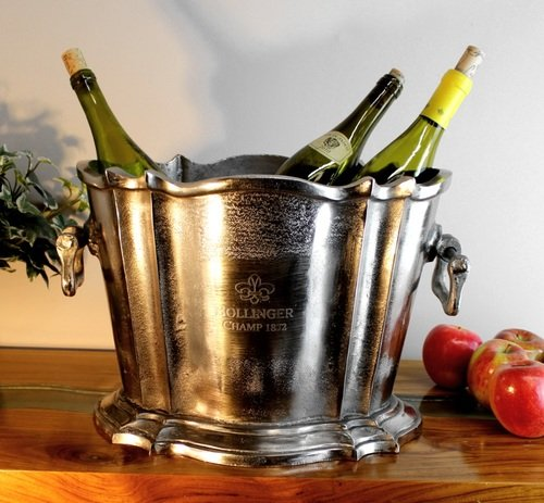 Bollinger Champ 1872 Ice Bucket Trophy for Winners Only - Planter Thick Metal by The King's Bay