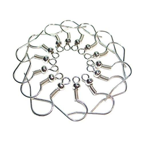100 Crochets hameçons pour boucles d'oreilles crochet ohrfedern geralin gioielli argent
