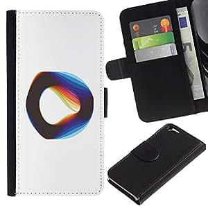 KingStore / Leather Etui en cuir / Apple Iphone 6 / Cuerda Vibrante Teoría Física Blanca