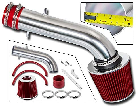 Rtunes Racing Short Ram Air Intake Kit Filter Combo BLACK Compatible For 03-07 Honda Accord LX EX 3.0L V6 /…