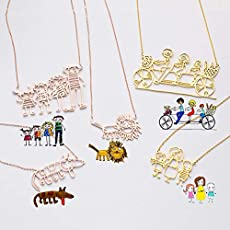 1efb246c4 925 Sterling Silver Actual Kids Drawing Necklace Children Artwork Necklace...  $32.25. See all. About CaitlynMinimalist