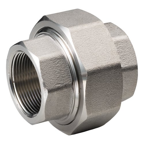 Merit Brass 487B-16-5 Class 1000 Stainless Steel 304 Barstock Pipe Fitting, Union, 1'' National Pipe Taper Thread Female (Pack of 5) by Merit Brass