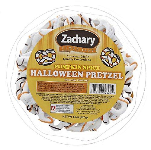 Halloween Pretzels - Pumpkin Spice Flavor 14oz. - In Resealable Tub