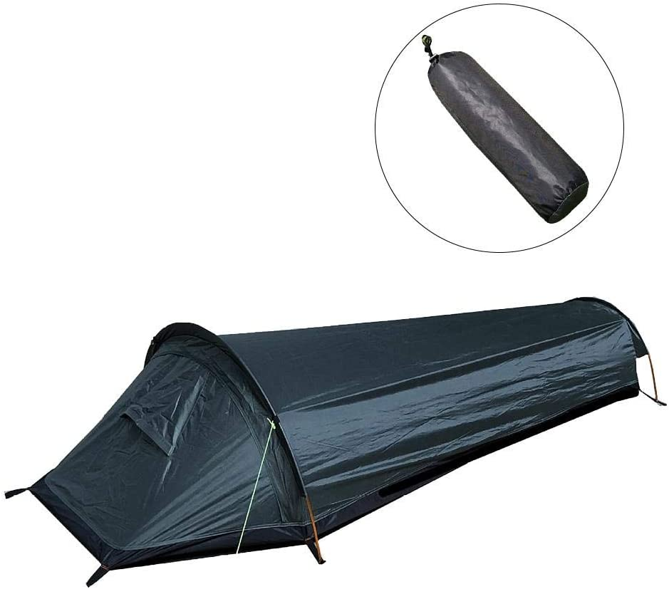 Ultralight Bivvy Bag Tent Compact Single Person Larger Space Waterproof Sleeping Bag Cover Bivvy Sack For Outdoor Camping