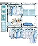Delta 48 Piece Nursery Storage Set, Blue