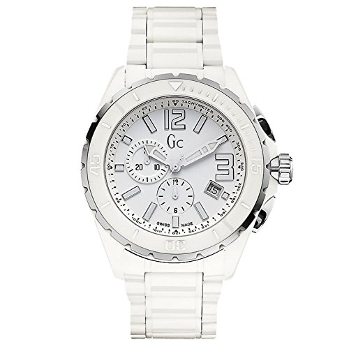 Guess Collection GC Men's Sport Class Chronograph White Ceramic Swiss Made Watch - X76015G1S