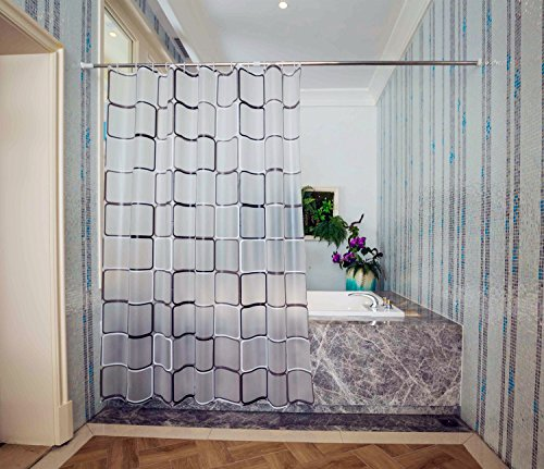 Frosted Shower Curtains Shower Curtain Liner SGS Certified 100% Safety PEVA Material Water Proof with Hooks ABClife (71x79 inch)