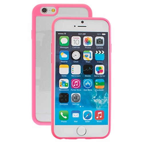Best Style Apple iphone 6 Case cover, TPU Rubber Ultra Thin Bumper Twin Colour Case Frame Protective Cover For iPhone 6 (Pink)