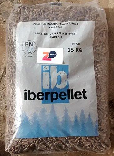 Iberpellet; palé de pellets 70 sacos. Certificado ENPlusA1. Para estufas y calderas.