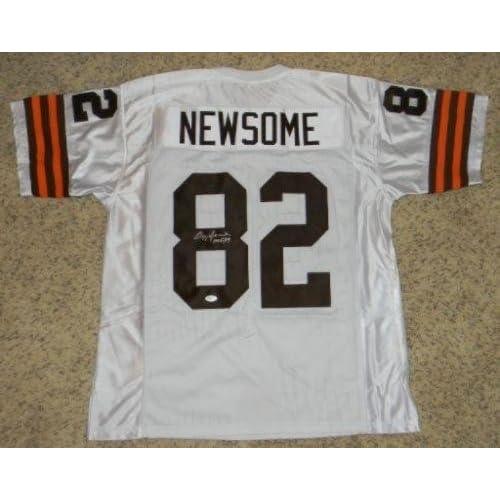 ... Ozzie Newsome Autographed Jersey - 82 White - JSA Certified - Autographed  NFL Jerseys chic . ... 872b2212f