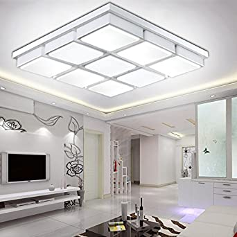 HUHU Minimalist Living Room LED Ceiling Lamp New Rubiks Cube Creative Square Wrought Iron Lighting Modern