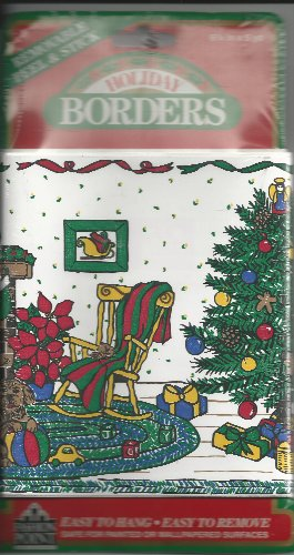 Home for the Holidays Removable Peel & Stick Holiday Border by Imperial Wallcoverings, Inc., 6.25 in x 5 yd
