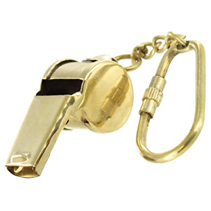 Functional Ruckus Brass Whistle Keychain Coaches' & Referees' Gear