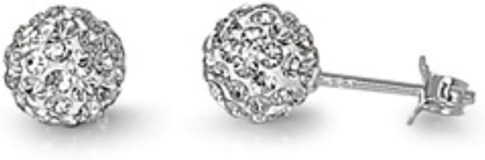 925 pendientes de plata esterlina con el cristal claro