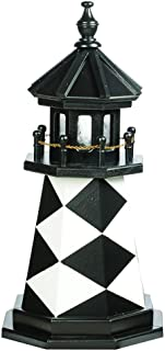 product image for DutchCrafters Decorative Lighthouse - Wood, Cape Lookout Style (2', Black/White)