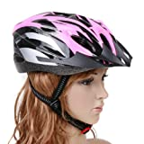 Andoer Cycling Bike Handsome Carbon Bicycle Helmet Outdoor Sport with Visor for Adult Women (Pink)
