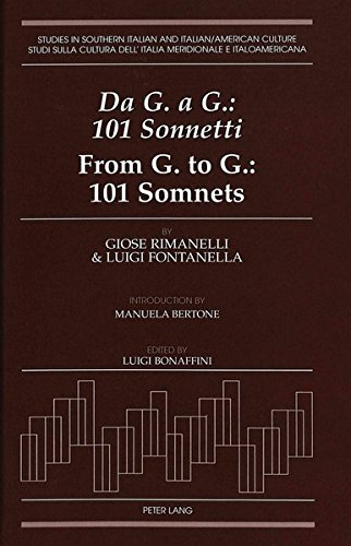 Da G. a G.: 101 Sonnetti- From G. to G.: 101 Somnets: Introduction by Manuela Bertone. Edited by Luigi Bonaffini (Studie