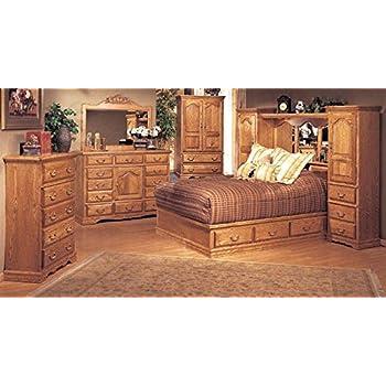 Bebe Furniture 5 Piece Pier Wall Bedroom Set, King