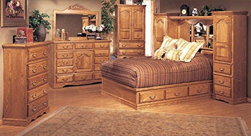 Wall Pier Queen (Bebe Furniture 5 Piece Pier Wall Bedroom Set, Queen)