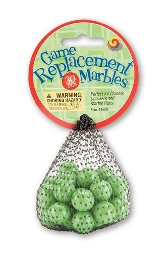 Mega Marbles Replacement Game (30 Piece), Green, 14mm ()