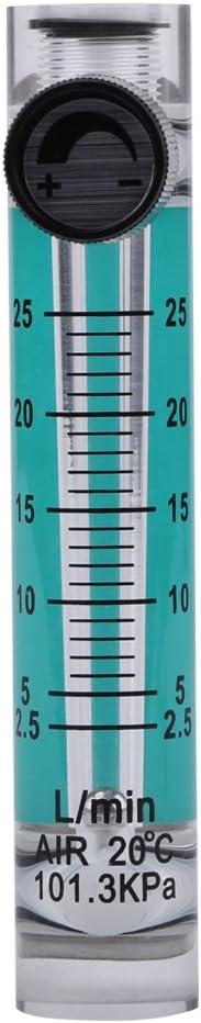 Tonysa Gas Durchflussmesser 2.5-25 l//min Flow Meter Pr/üfger/ät mit Regelventil 8mm Schlaucht/ülle Gasdurchflussmesser Luftdurchflussmesser zur Messung von Sauerstoff Luft Gas