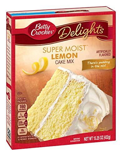 General Mills Betty Crocker Cake Mix, Lemon, 15.25 oz (Moist Pound Lemon Cake)