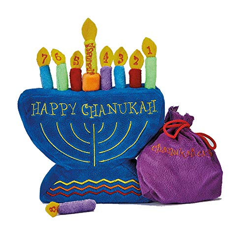 (Rite -Lite Judaica My Soft Chanukah Set, Plush with Menorah and Candles)