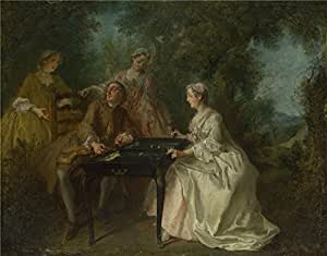The polyster Canvas of oil painting 'Nicolas Lancret The Four Times of Day Afternoon ' ,size: 30 x 38 inch / 76 x 98 cm ,this High quality Art Decorative Prints on Canvas is fit for gift for girl friend and boy friend and Home artwork and Gifts