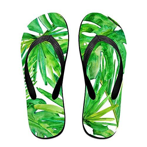 QR FUNK Unisex Watercolor Palm Tree Leaf Summer Fashion Flip Flops Beach - Sale Havianna