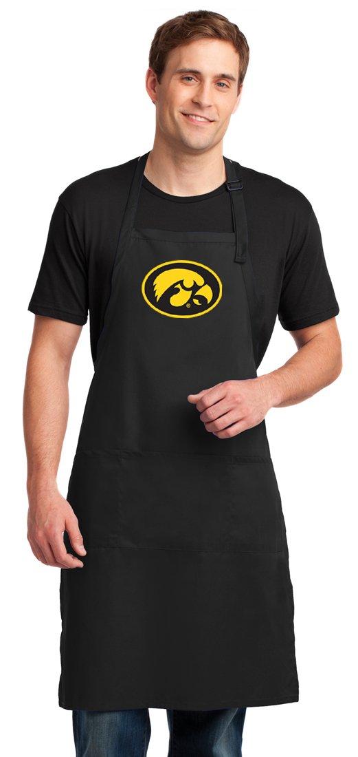 Broad Bay University of Iowa Apron Large Size Iowa Hawkeyes Gift for Men or Women Man Him Her