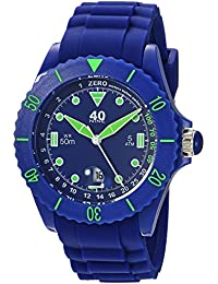 Quartz Plastic and Silicone Casual Watch, Color:Blue (Model: 40NINE02/NAVY20)