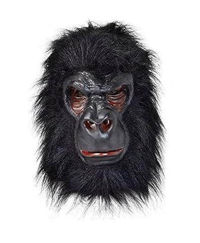 Gorilla Costumes Masque - Gorilla Overhead Mask With Black