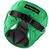 Easy to Put on and Take Off Small Dog Harnesses Our Small Dog Harness Vest has Padded Interior and Exterior Cushioning Ensuring Your Dog is Snug and Comfortable ! (X-Small, Green)