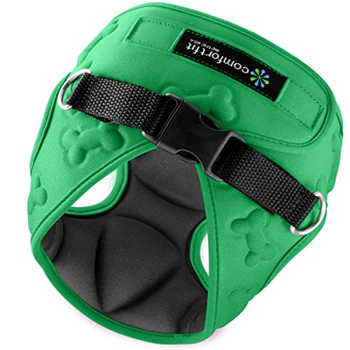 Easy to Put on and Take Off Small Dog Harnesses Our Small Dog Harness Vest has Padded Interior and Exterior Cushioning Ensuring Your Dog is Snug and Comfortable ! (Small, Green)