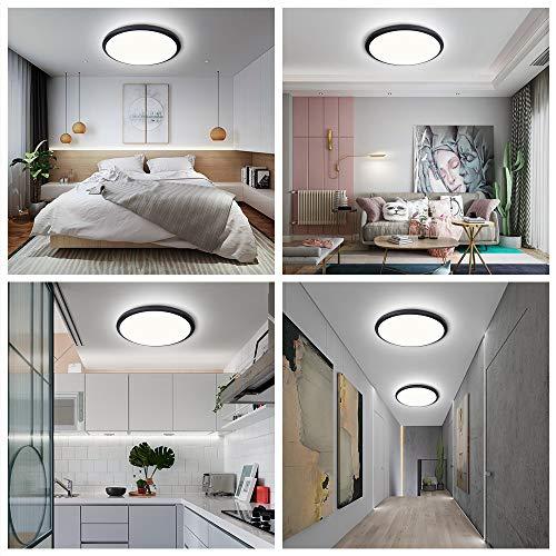24W LED Deckenleuchte Deckenlampe LED bedee Deckenlampe Schlafzimmer Badezimmer Wohnzimmer Wasserdichte IP44 Deckenleuchte Bad Badlampe Decke LED 4000K 2040LM Deckenbeleuchtung [Energieklasse A++]