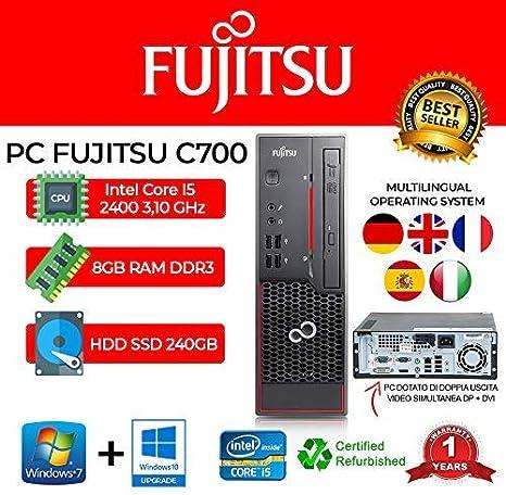 PC Fujitsu C700 Intel Core I5 2400 3,10GHZ/8GB/240GB SSD/DVD/Win ...