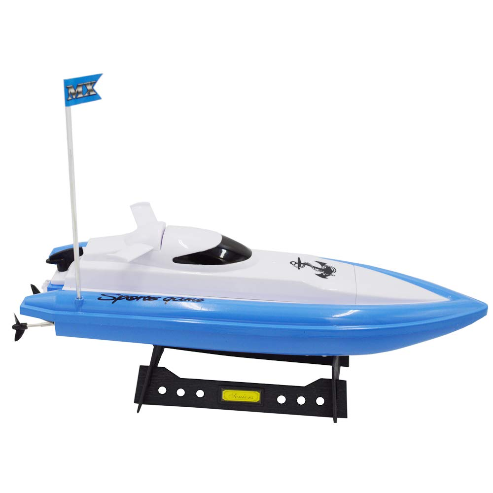 Blomiky F4 13 Inch High Speed RC Boat Remote Control Electric Boat Extra 2 Battery MX20 Blue